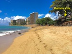 Kahana Beach gleich gegenüber